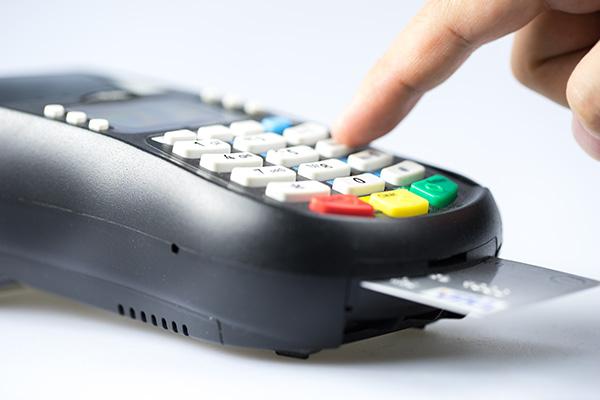 protect Credit & debit card password payment light in studio.